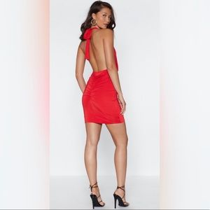 Nasty gal limited open back dress in red ❤️
